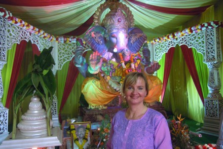 Christine Kister in Mumbai