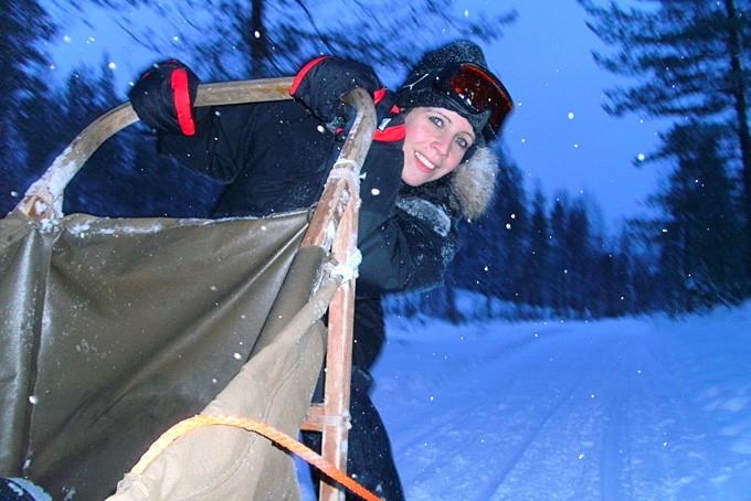 Fabienne Rochat in Lappland
