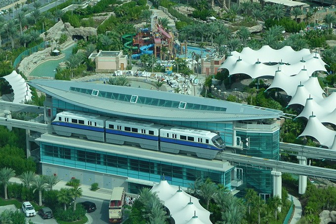 Die Monorail in Dubai