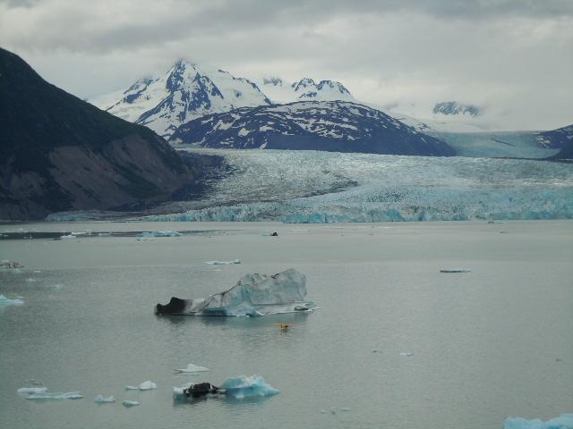Helikopter Flug über den Knik Glacier