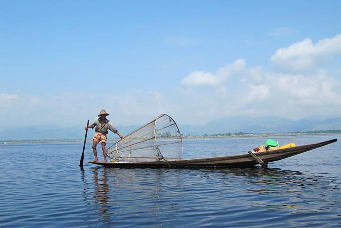 Pêcheur sur le lac Inle.