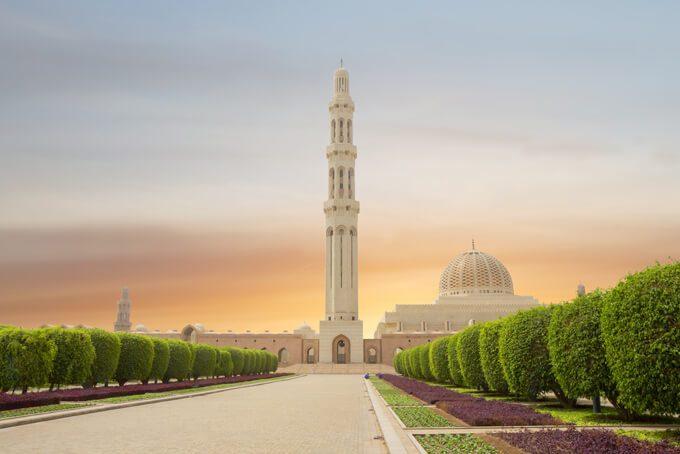 Grosse Sultan-Qabus-Moschee in Maskat