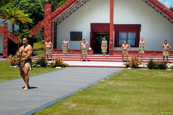 Traditionelles Willkommen in Rotorua
