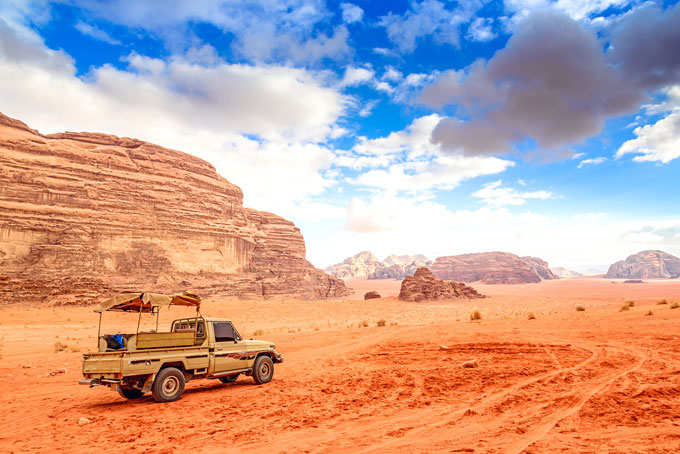 Wadi Rum, tour en jeep