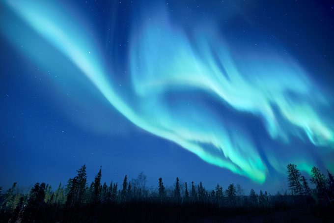 Aurores boréales en Alaska