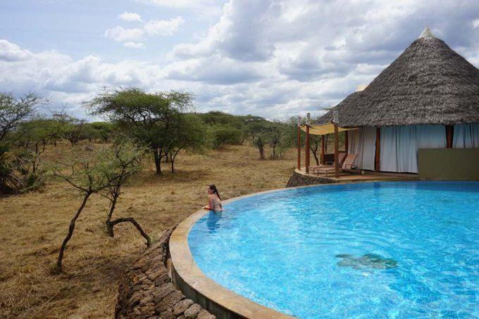 Entspannung nach der Safari