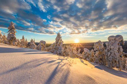 Traumhafte Wetterbedingungen in Skandinavien