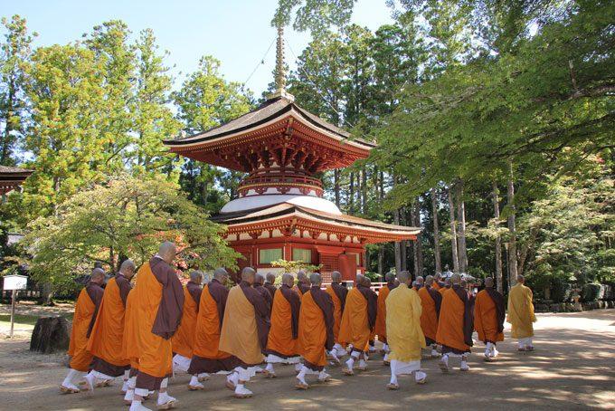 Mönche in Koyasan