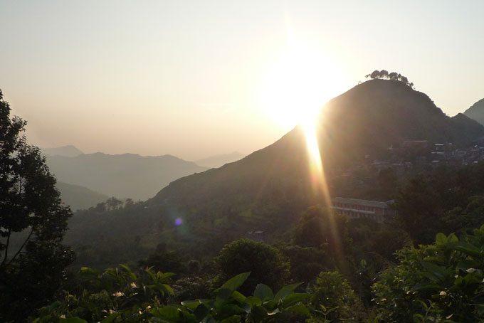 Coucher de soleil sur le Népal